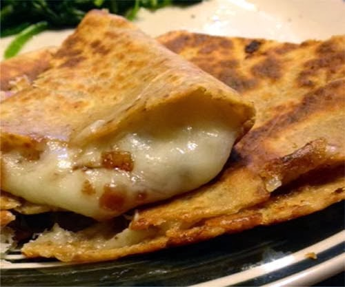 Simple and Tasty Quesadilla Recipe. Low-carb Brand Tortilla Can Be Used As Healthier Substitute.