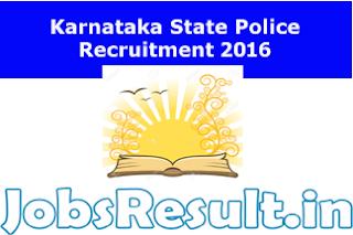 Karnataka State Police Recruitment 2016