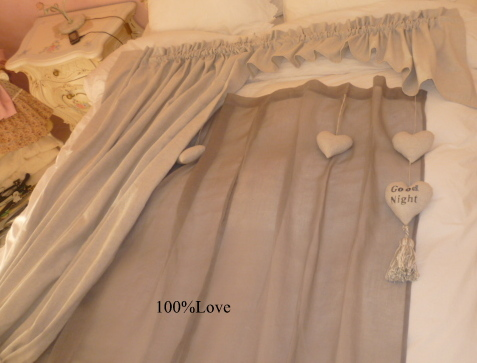 100%love: tende cuori - Tende Country Per Camera Da Letto
