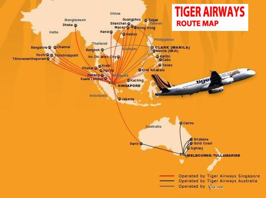International flights tiger airways route map tiger airways route map sciox Images