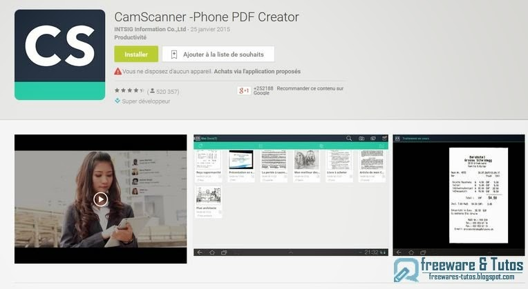 CamScanner Une Application Android Pour Transformer Votre Smartphone En Scanner Freewares Tutos