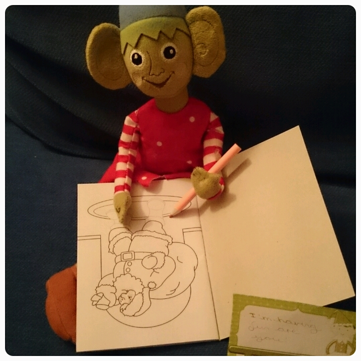 elf on the shelf colouring