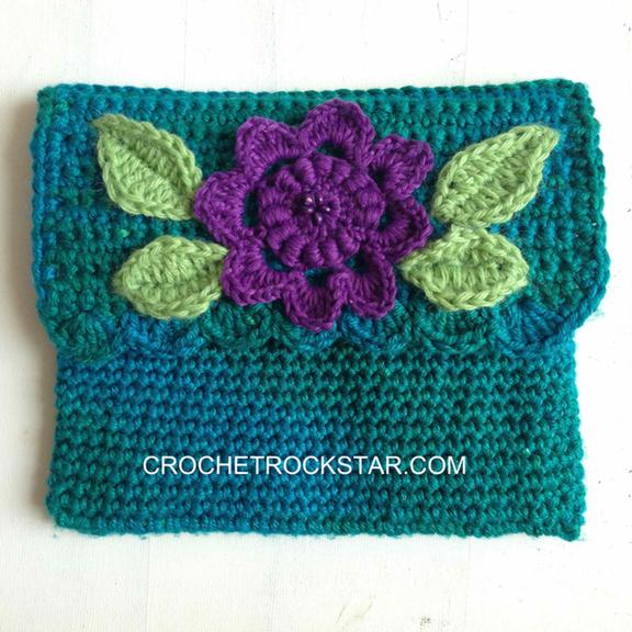 Crochet Rockstar Crocheted Clover Amour Hook Case