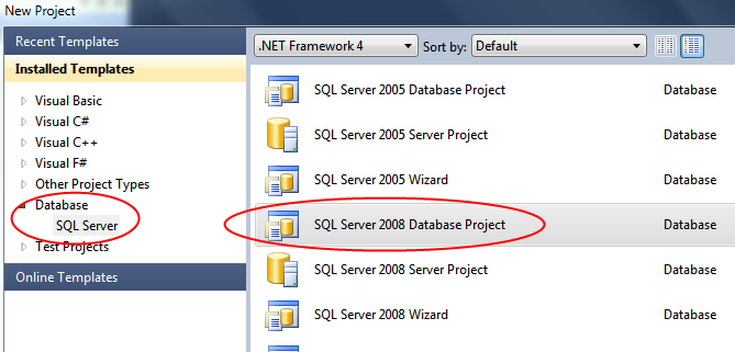 Working with visual studio database projects ccuart Gallery