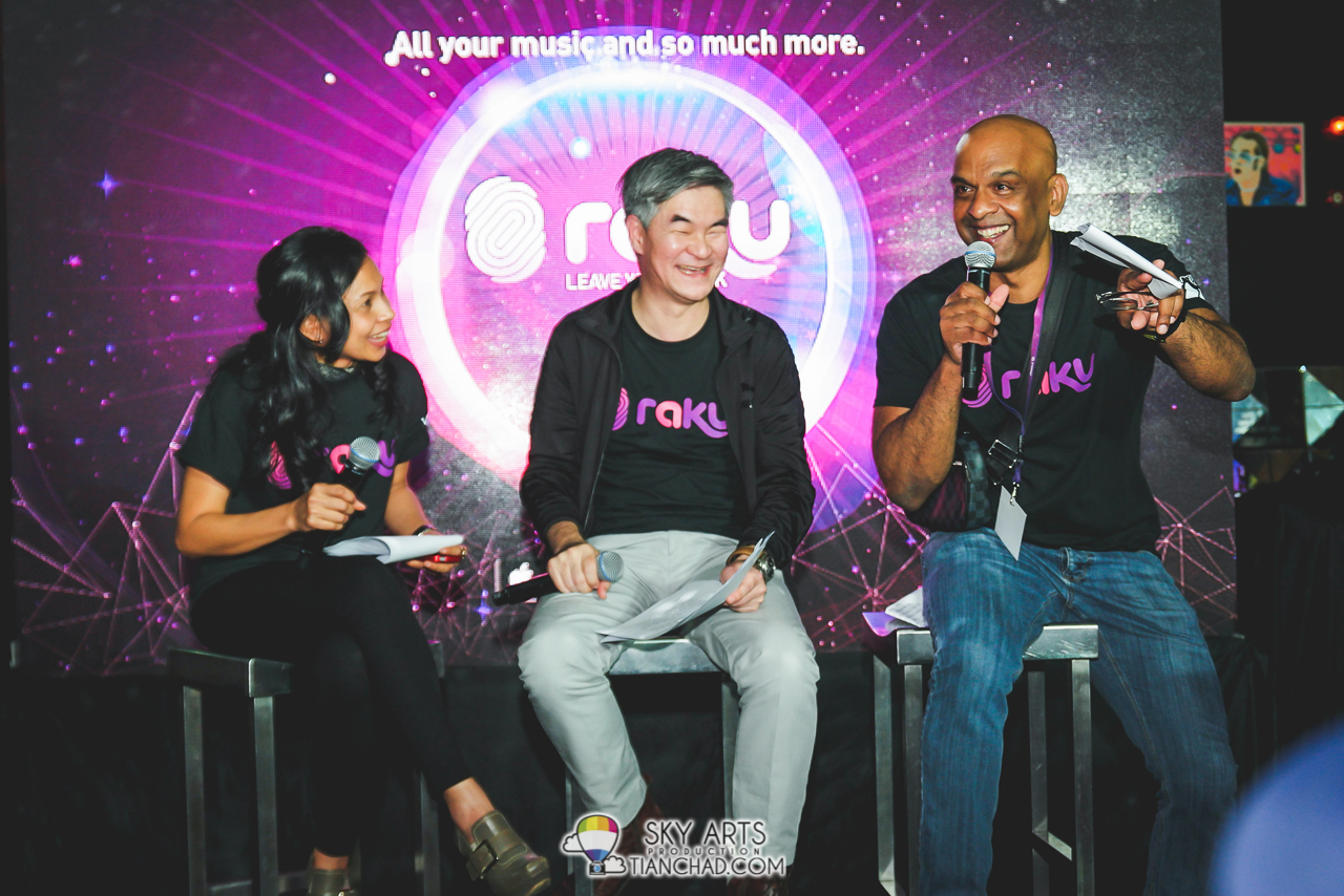 Some candid moment during media QnA session @ RAKU Music Apps Launch