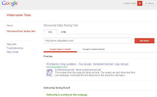 "web for checking the "" rich snippets ""of Google"