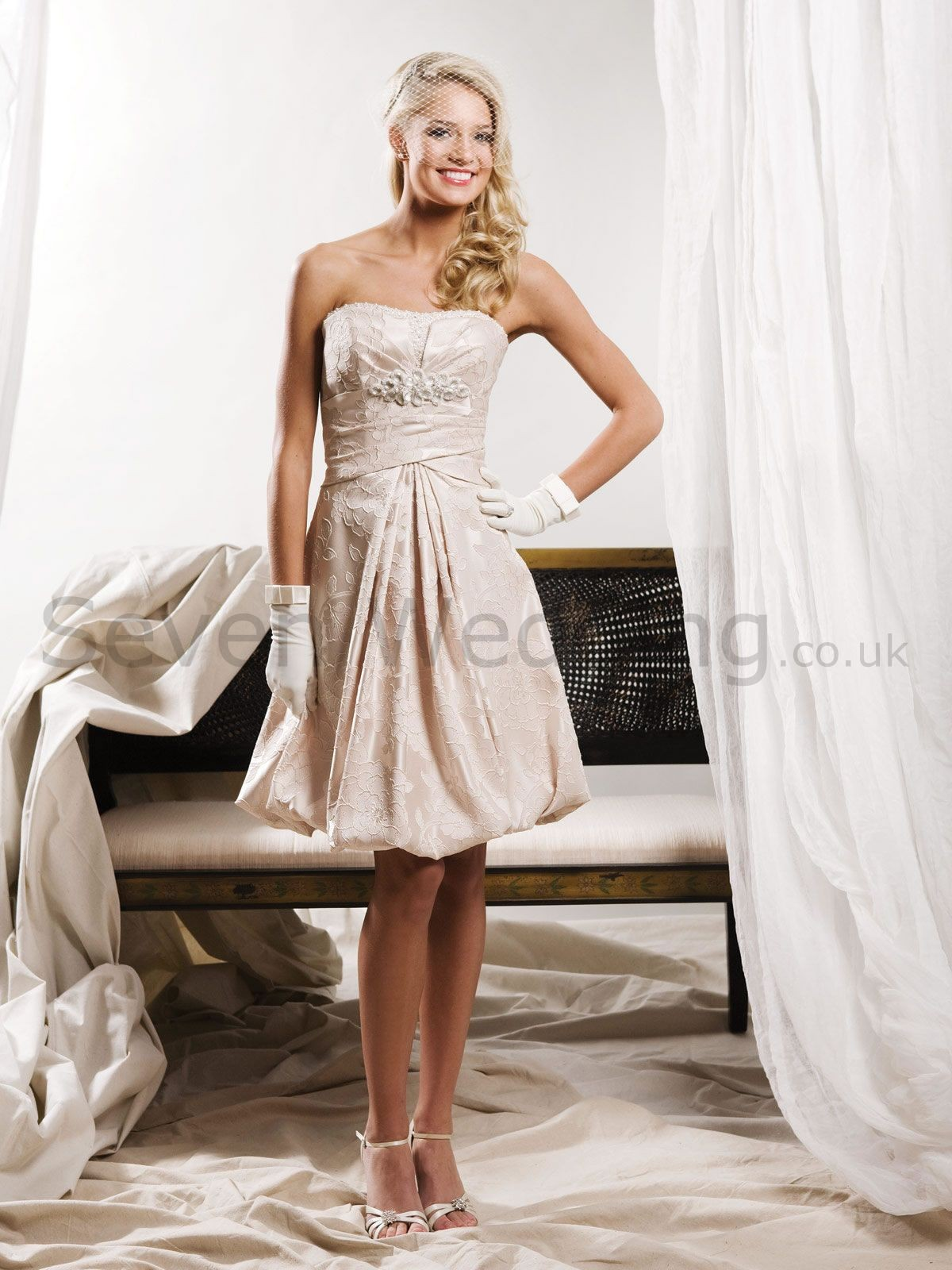 Sevenweddingdresses what wedding dress is ideal for a for Civil wedding dress