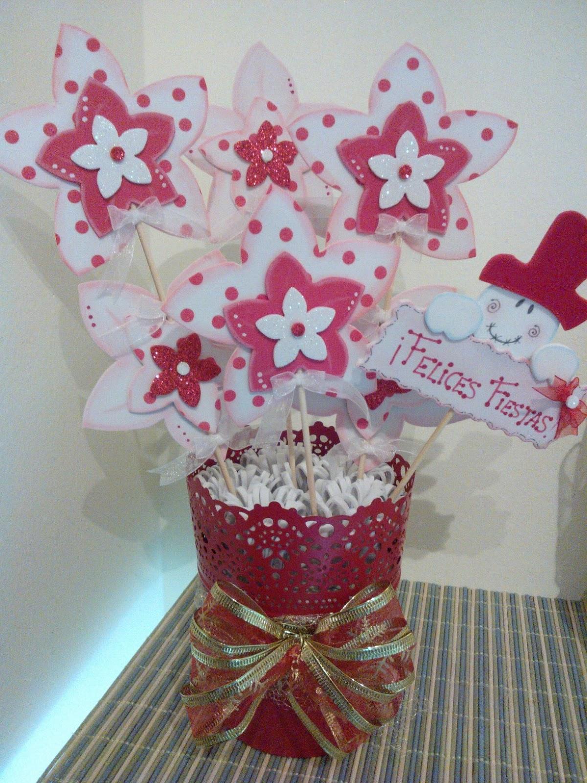 Cucadas de mami macetas decoradas goma eva para navidad - Decoracion navidad goma eva ...