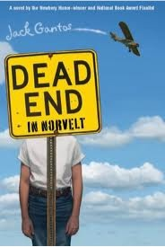 bookcover of Newbery Winner Jack Gantos'Dead End in Norvelt