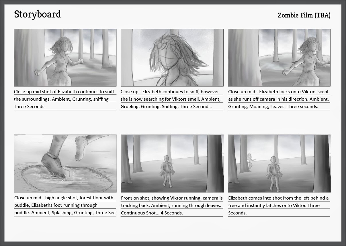 VFX   Storyboards   Zombie Film