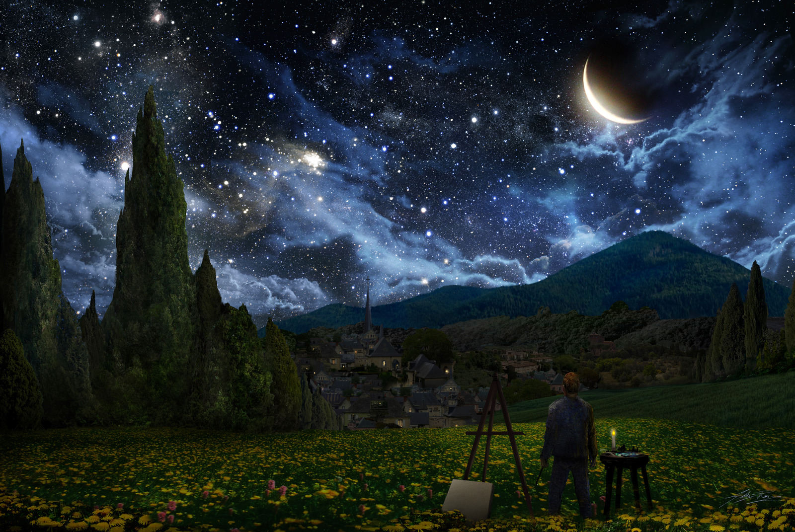 van goghs starry eyes brings out a starry night essay Read this essay on vincent van gogh - self portrait with bandaged ear  van gough's starry night uses the curve of  the place he hung out at night.