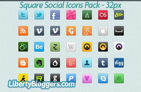 Square Social Icons Pack