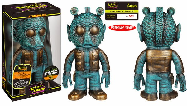 Star Wars Celebration 15 Exclusive Star Wars Hikari Sofubi Vinyl Figures - Verdigris Greedo