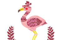 The Fabulous Flamingo Illustration by Haidi Shabrina