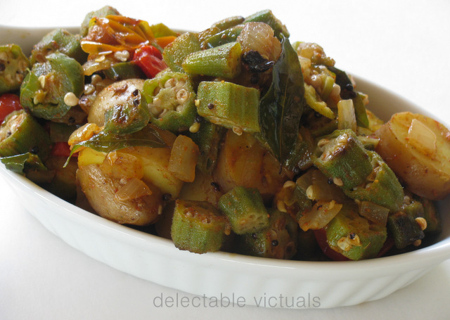 Okra and Fingerling Potatoes Curry