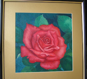 Red Rose - Oil on canvas