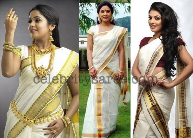 Kerala traditional saree but not