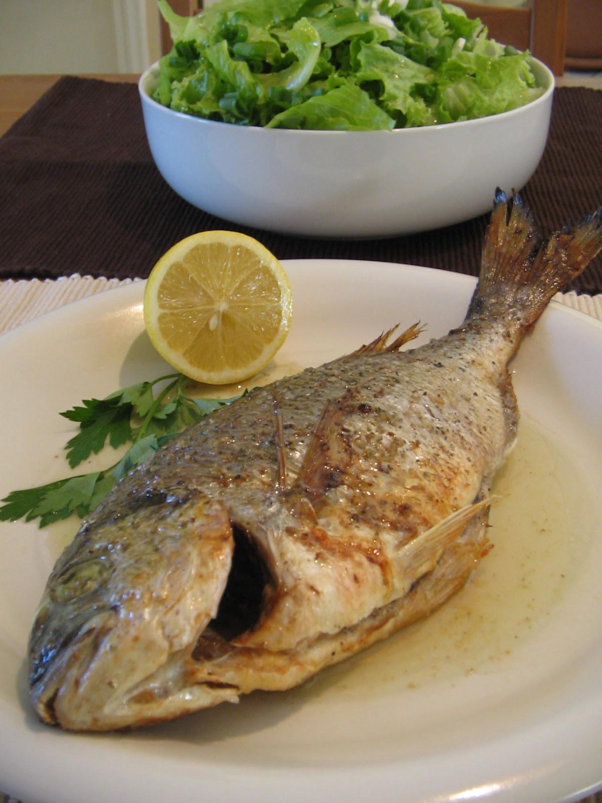 Τσιπούρα Λαδολέμονο στο Φούρνο