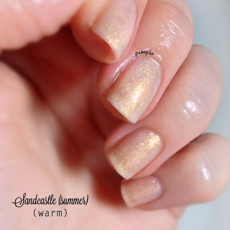 "pimyko swatch ""Sandcastle (summer)"" 4 seasons collection by Funlacquer"