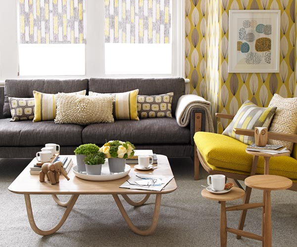 Vibgyor girl what decor u 39 r for Mustard living room ideas
