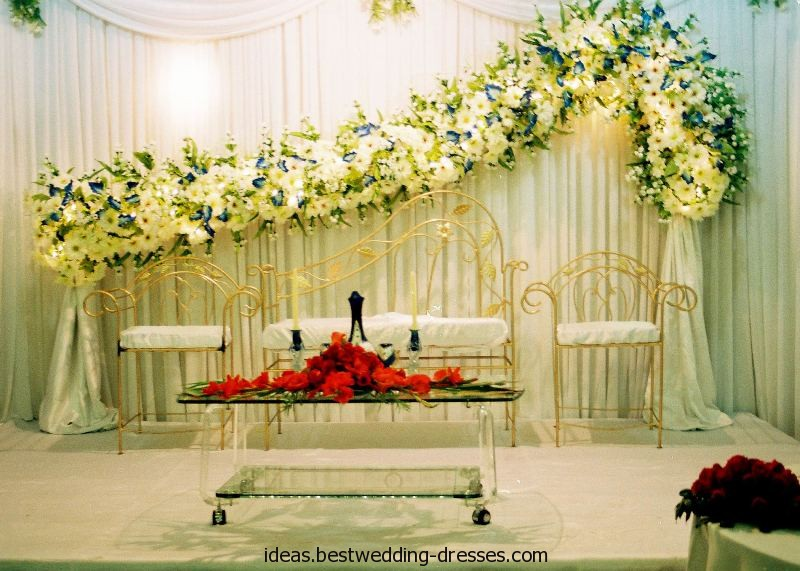 Ghosia caterers flowers decoration wedding stages for Marriage decoration designs