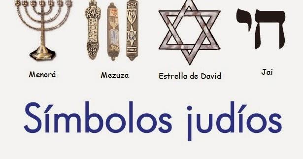 Conjunto De Símbolos Judíos Del Día De Fiesta Religioso Foto de ...