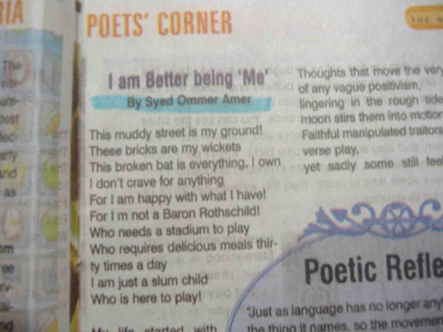 US Magazine the news international poet's corner pic