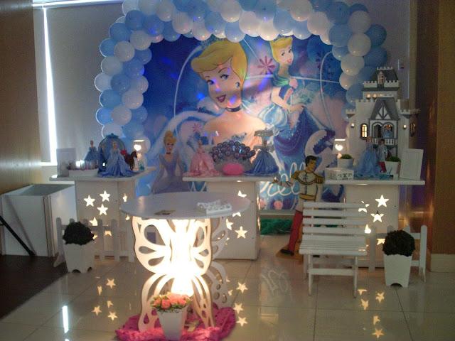 mesa provençal - Cinderela - decoração de festa de aniversário infantil