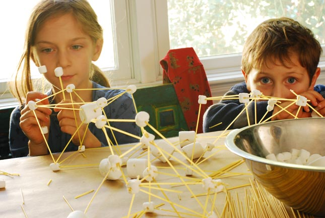 how to build tower with spaghetti and marshmallows