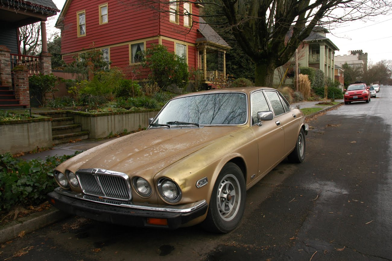 Old Parked Cars.: 1980 Jaguar XJ-6 Vanden Plas.
