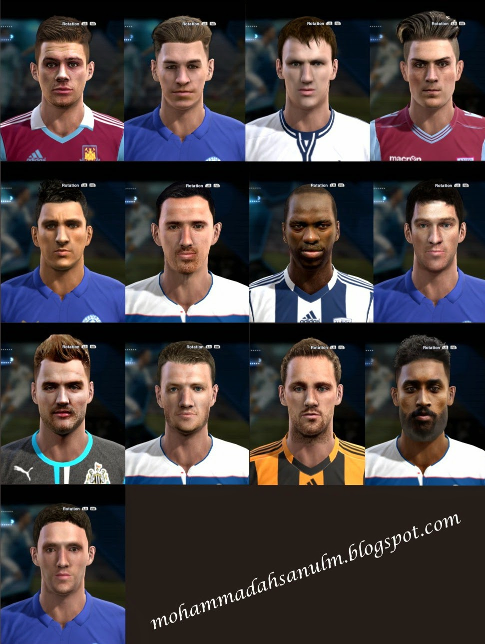 PES 2013 Collab Facepack #3 by Emmrow & bradpit62