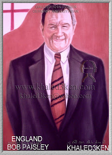 STARS ENGLAND BOB PAISLEY Portrait Drawing Soccer Football Khaled3Ken Gallery