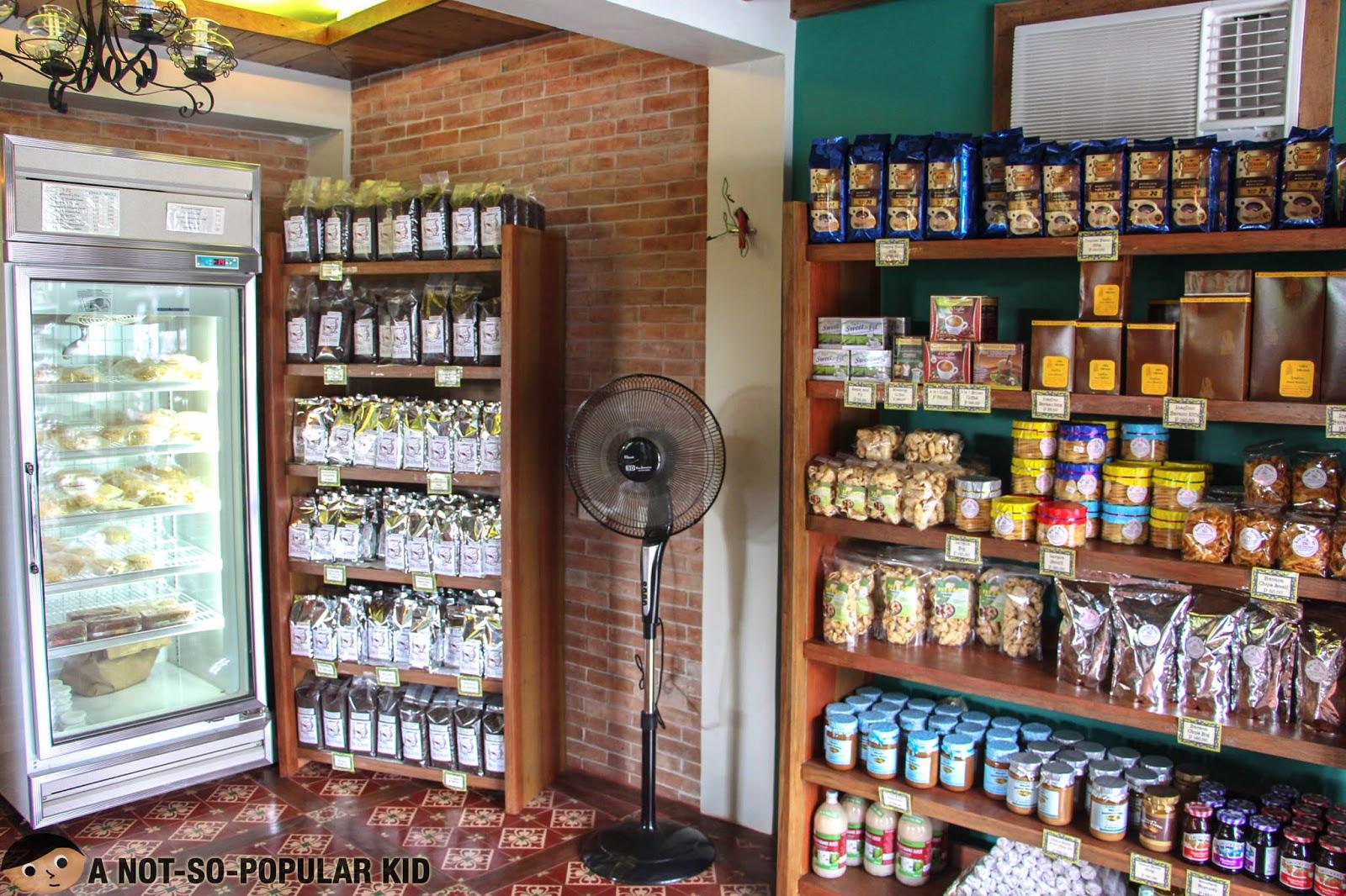Bag of Bean's first floor housing all your pasalubong (food souvenir) needs