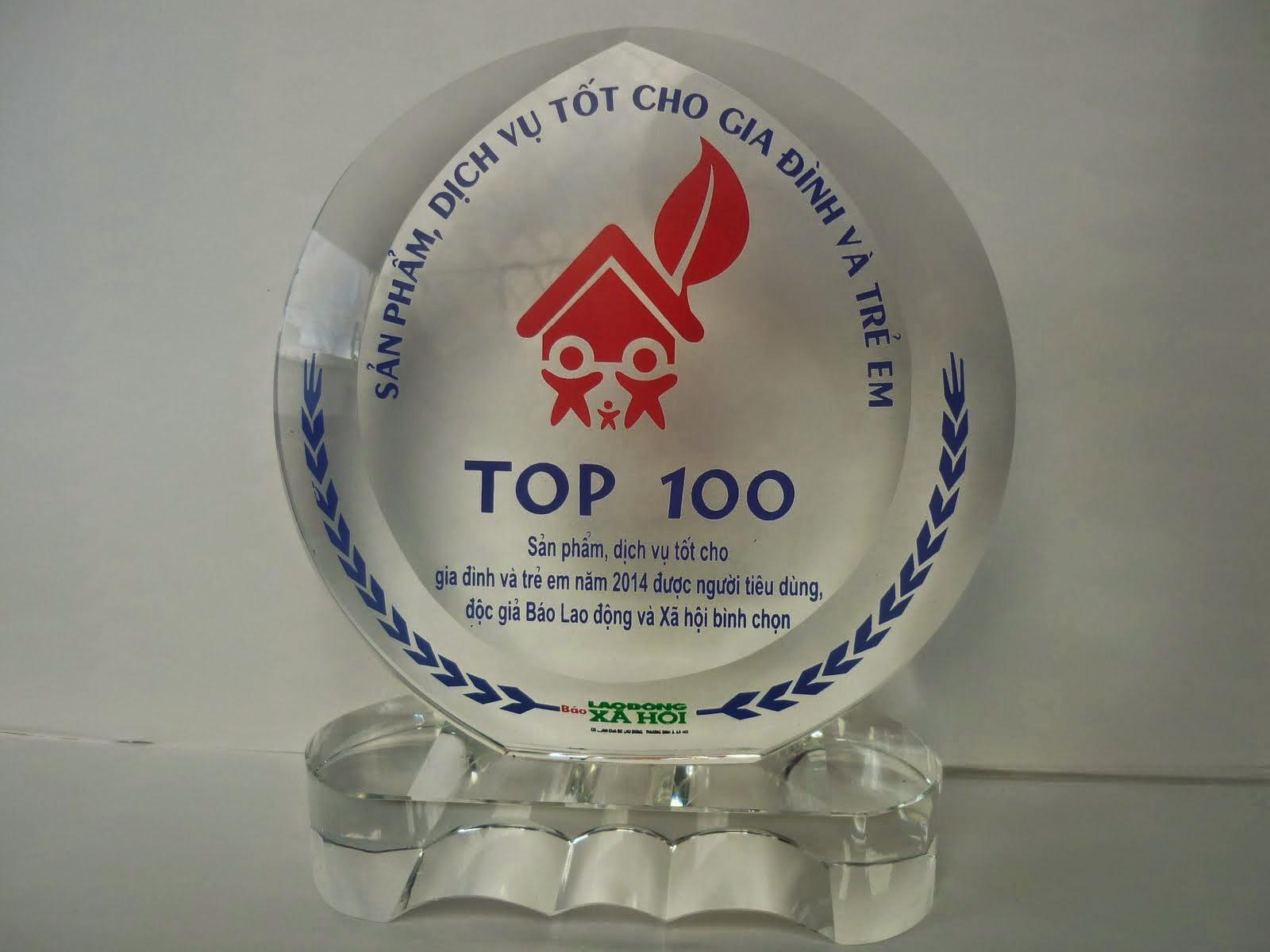 TOP 100 SẢN PHẨM TỐT CHO GIA ĐÌNH VÀ TRẺ EM
