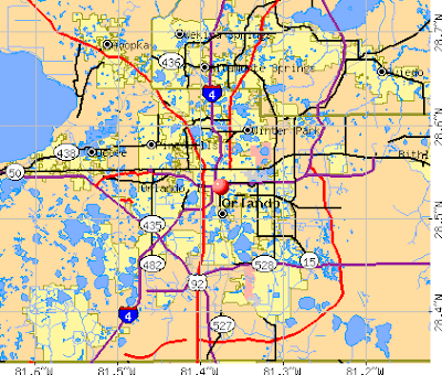 Highway map of Orlando
