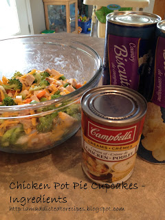 Ingredients for Chicken Pot Pie Cupcakes