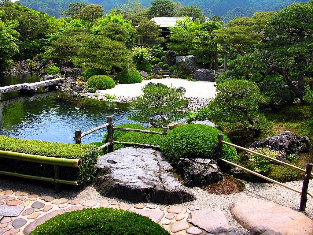 Adachi Müzesi Sanat bahçesi - Adachi Museum of Art garden