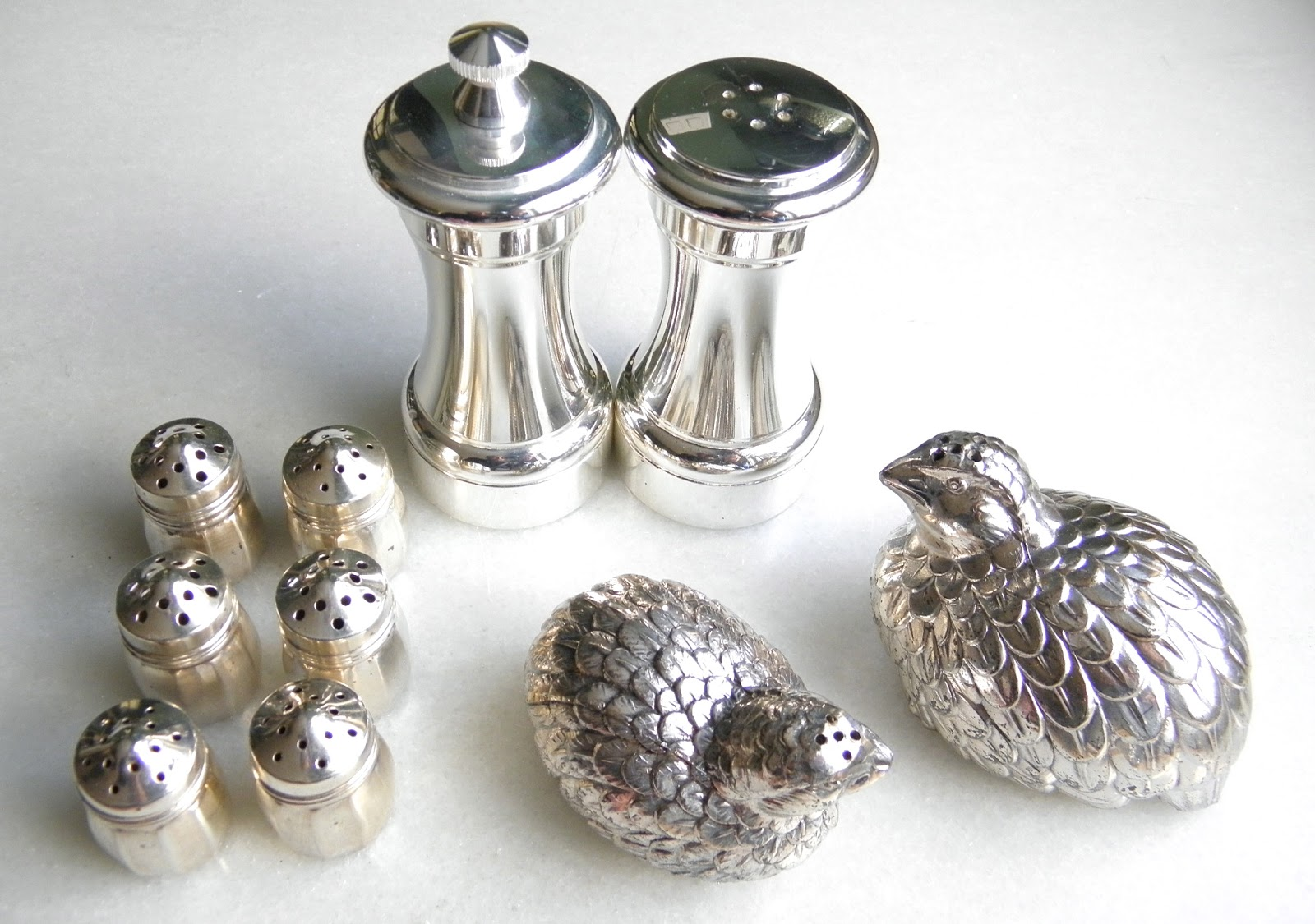 Good Things By David Caring For Silver Salt Pepper Shakers