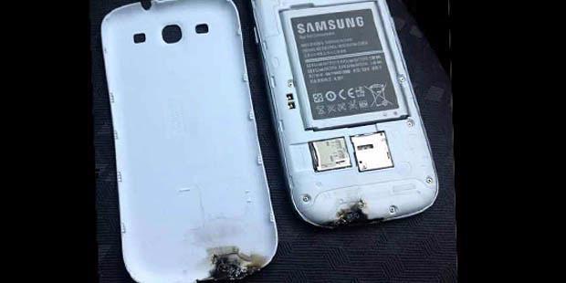 Samsung Galaxy S III Terbakar