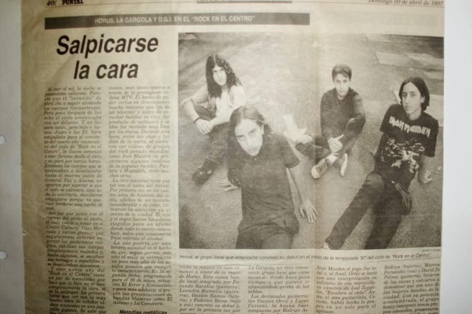 Proyecto Rock Río Cuarto: Horus, La Gargola y D.G.I. - Puntal 1997
