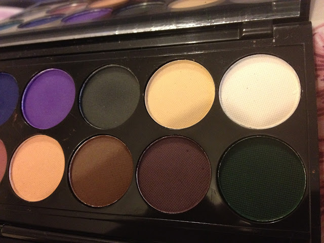 Sleek darks matte palette eyeshadows