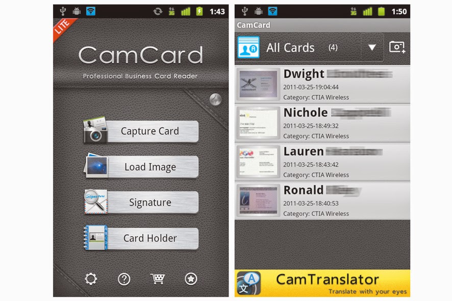 Next version of android best android business card scanner the app checks out in thirteen languages and deserves an appearance if scanning reliability is very important reheart Gallery