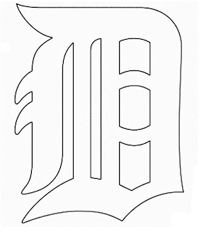 Escudo de los tigres de detroit para colorear