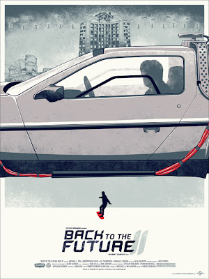 Back to the Future Trilogy Screen Print Set by Phantom City Creative - Back to the Future II