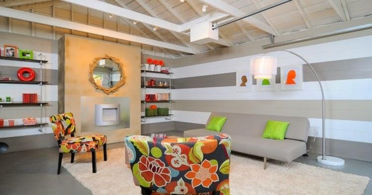 Dise os de salas con paredes a rayas ideas de salas con for Diseno de paredes para salas