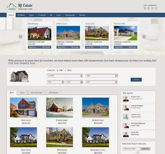 Mj Estate Responsive Real Estate Joomla Template