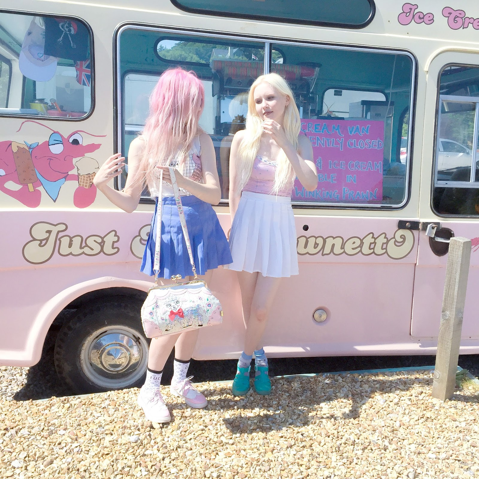 LETS STAND BY THE VINTAGE ICECREAM VAN