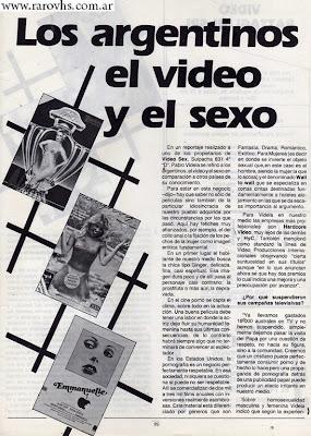 Los argentino, el video y el sexo