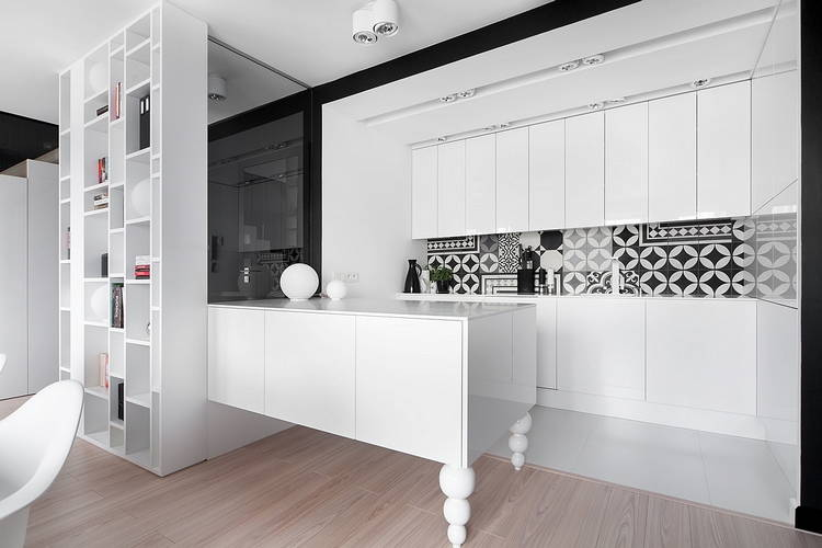 Appartamento in black and white by widawscy studio architektury