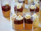 קינוח בכוס:שוקולד-חמאת בוטנים-קצפת